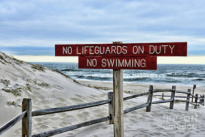 Photograph - No Lifeguards On Duty by Paul Ward