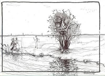 Outsider Art Drawing - No Limit by Robert Wolverton Jr