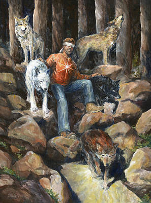 Wall Art - Painting - No Lone Wolf by Jim Stilwell
