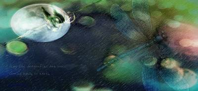 Digital Art - No Love For The Living by Delight Worthyn