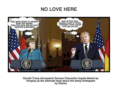 Presidential Elections Digital Art - No Love Here by Joe  Palermo