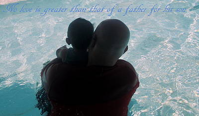 Photograph - No Love Is Greater Than That Of A Father For His Son by Kay Novy