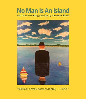 Painting - No Man Is An Island T-shirt by Thomas Blood