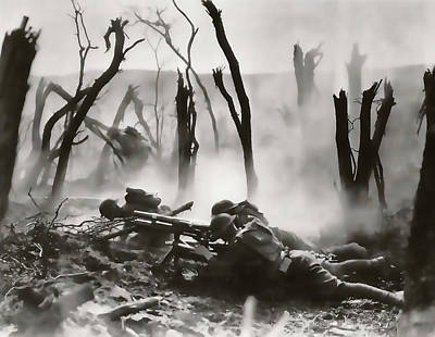 No Man's Land - Trench Warfare - World War One Art Print by Daniel Hagerman