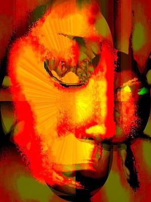 Abuse Mixed Media - No Means No by Fania Simon