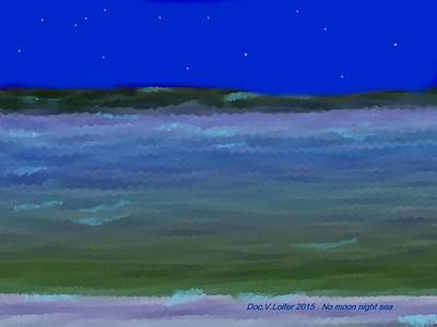 Digital Art - No Moon Night Sea by Dr Loifer Vladimir