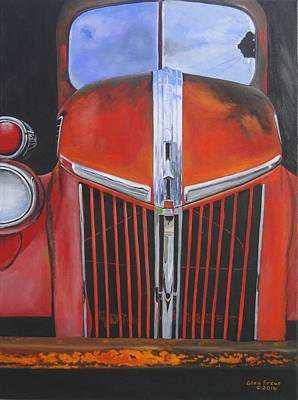 Old Fire Trucks Painting - No More Fires by Glen Frear
