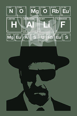 Painting - No More Half Measures - Breaking Bad Poster Walter White Quote by Beautify My Walls