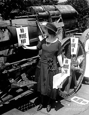 Photograph - No More War Womans Protest 1922 by Peter Gumaer Ogden Collection