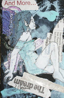 Little Girl Mixed Media - No Ordinary Choice by Joanne Claxton