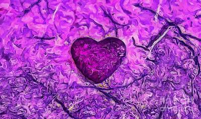 Abstract Hearts Photograph - No Ordinary Love by Krissy Katsimbras