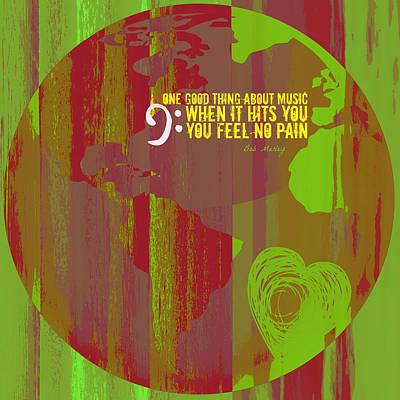No Pain Bob Marley V2 Art Print by Brandi Fitzgerald