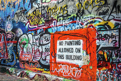Photograph - No Painting Allowed by Steven Bateson