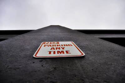 Any Photograph - No Parking Any Time by Pelo Blanco Photo