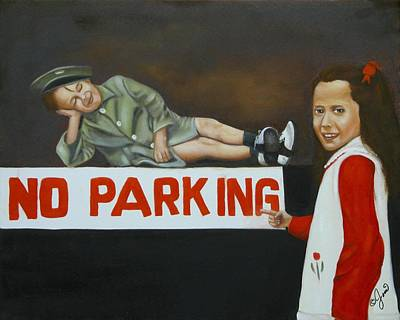 Painting - No Parking by Joni McPherson