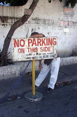 No Parking This Side 2 Art Print by Jez C Self