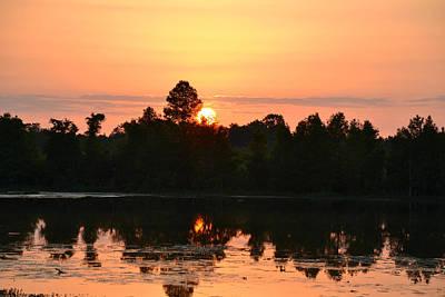 Photograph - No Peeking - Sunrise by rd Erickson