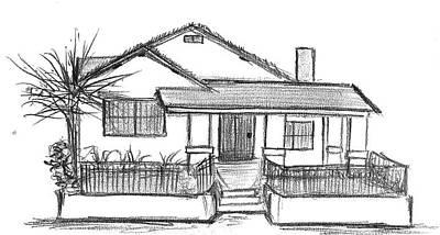 Drawing - No Place Like Home by Matt Harang