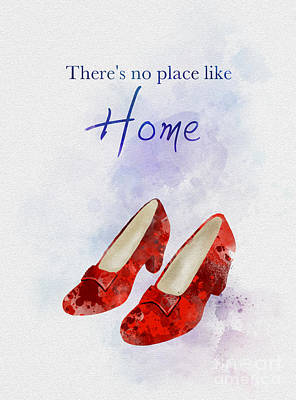 Mixed Media - No Place Like Home by Rebecca Jenkins
