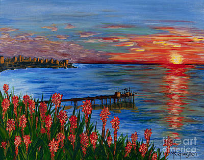 La Jolla Art Painting - No Reservations by Marta Robin Gaughen
