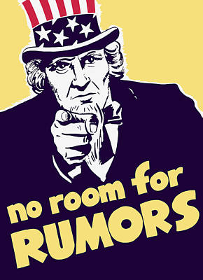 Uncle Sam Painting - No Room For Rumors - Uncle Sam by War Is Hell Store