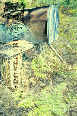 Mail Box Photograph - No Rush Delivery by Jean OKeeffe Macro Abundance Art