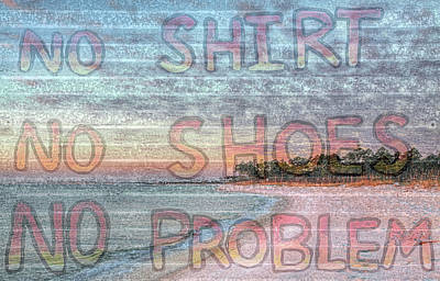 Photograph - No Shirt No Shoes No Problem Pensacola Bay by JC Findley