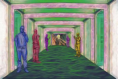 Digital Art - No Signal by John Haldane