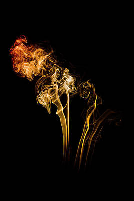 Photograph - No Smoke Without Fire In Flames by Angela Devaney