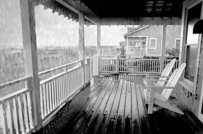 Adirondack Chairs On The Beach Photograph - Ain't No Sunshine by Diana Angstadt