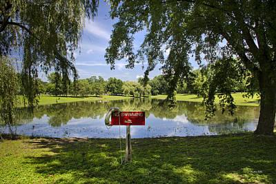 Rollos Photograph - No Swimming At Otsiningo Park by Christina Rollo
