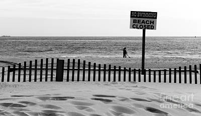 Photograph - No Swimming Beach Closed by John Rizzuto