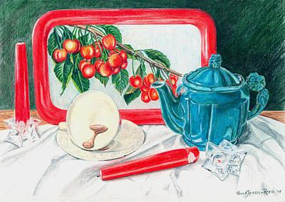 No Time For Tea Art Print by Paula Farris-Reed