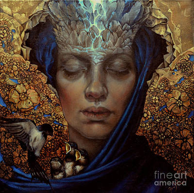 Angel Oil Painting - No Title 9 by Graszka Paulska
