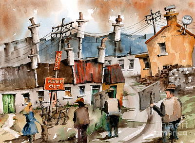 Painting - F 729 No To Pylons In Ireland.. by Val Byrne