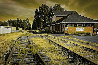 Digital Art - No Train Today by Richard Farrington