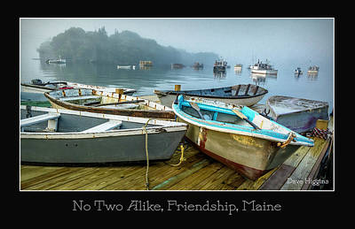 Digital Art - No Two Alike, Friendship, Maine by Dave Higgins