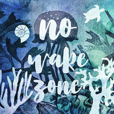 Painting - No Wake Zone by Mo T