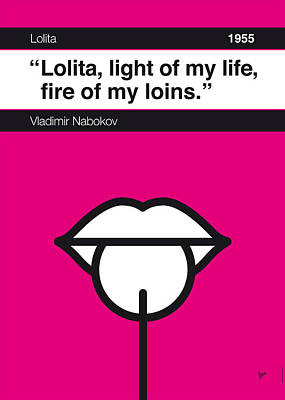 Digital Art - No005 My Lolita Book Icon Poster by Chungkong Art