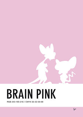 Pig Wall Art - Digital Art - No01 My Minimal Color Code Poster Pinky And The Brain by Chungkong Art