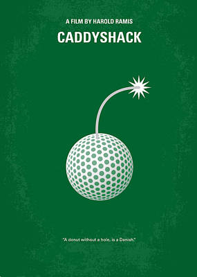 Sports Wall Art - Digital Art - No013 My Caddy Shack Minimal Movie Poster by Chungkong Art