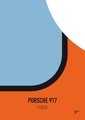Italian Digital Art - No016 My Le Mans Minimal Movie Car Poster by Chungkong Art