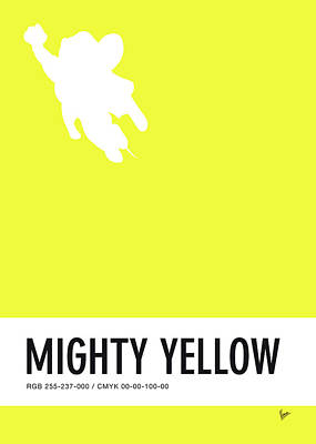 Mice Digital Art - No02 My Minimal Color Code Poster Mighty Mouse by Chungkong Art