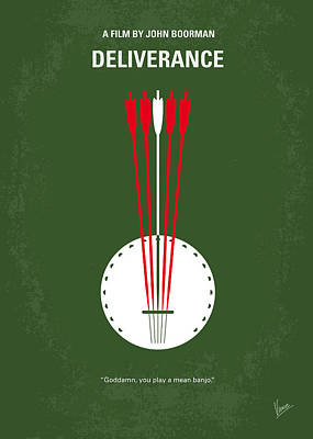 Banjo Digital Art - No020 My Deliverance Minimal Movie Poster by Chungkong Art