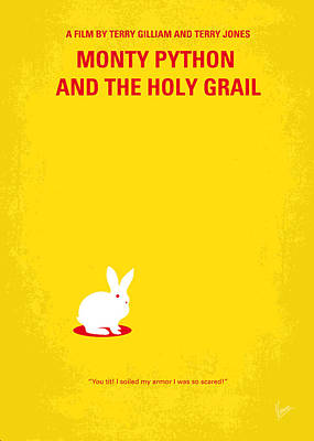 The Classic Digital Art - No036 My Monty Python And The Holy Grail Minimal Movie Poster by Chungkong Art