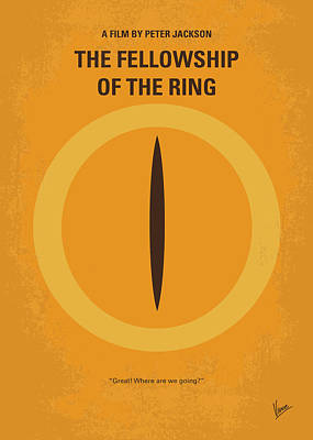 The Hobbit Wall Art - Digital Art - No039-1 My Lotr 1 Minimal Movie Poster by Chungkong Art