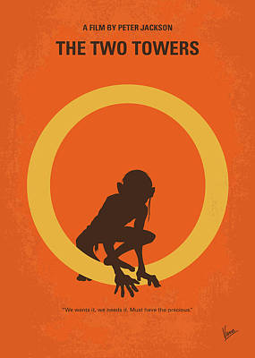 The Hobbit Wall Art - Digital Art - No039-2 My Lotr 2 Minimal Movie Poster by Chungkong Art