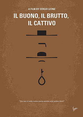 No042 My Il Buono Il Brutto Il Cattivo Minimal Movie Poster Art Print by Chungkong Art