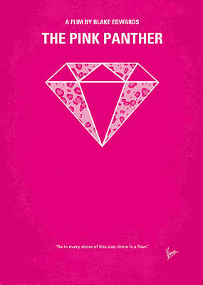 Panther Digital Art - No063 My Pink Panther Minimal Movie Poster by Chungkong Art