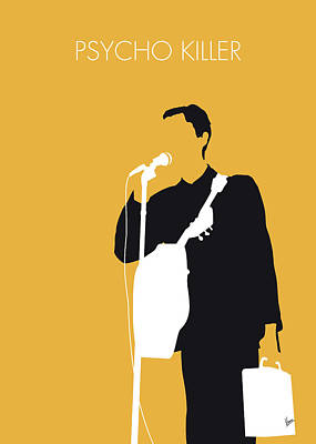No064 My Talking Heads Minimal Music Poster Art Print by Chungkong Art